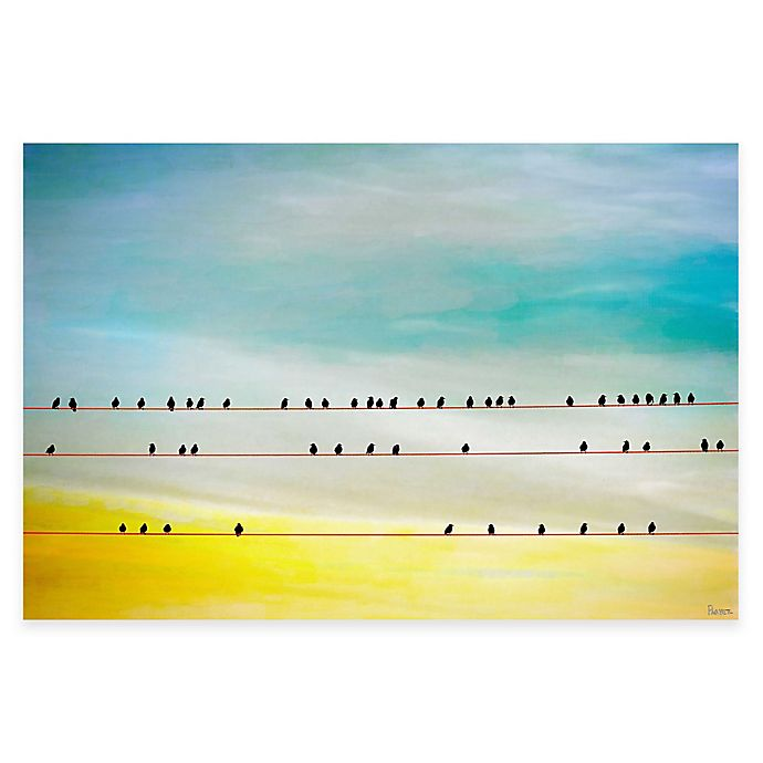 Alternate image 1 for Parvez Taj Birds Hangin' 18-Inch x 12-Inch Canvas Wall Art