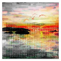 Parvez Taj Birds In The Sunset 24-Inch x 24-Inch Canvas Wall Art