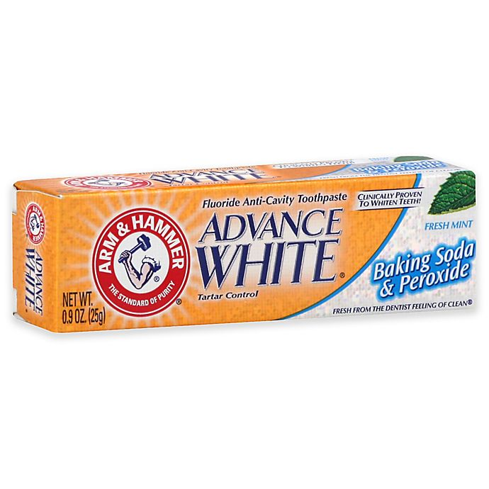 Alternate image 1 for Arm and Hammer® .9 oz. Advance White Baking Soda and Peroxide Toothpaste in Fresh Mint