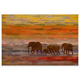Parvez Taj Herd Walking 45-Inch x 30-Inch Canvas Wall Art