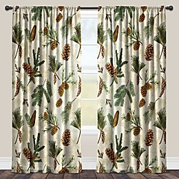 Laural Home® Pinecone Rod Pocket Sheer Window Curtain Panel