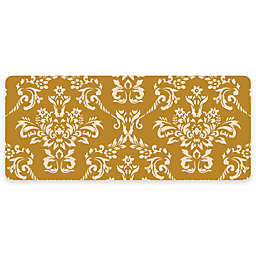 Premium Comfort by Weather Guard™ Damask 22-Inch x 52-Inch Kitchen Mat in Harvest Gold