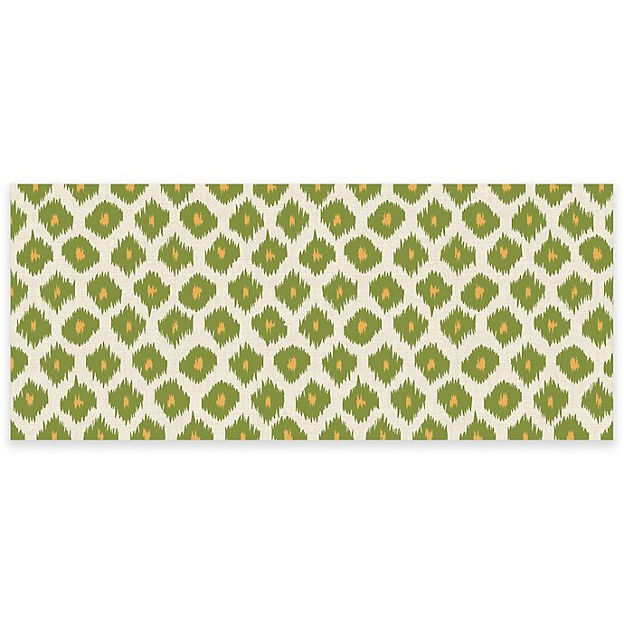 Alternate image 1 for Premium Comfort by Weather Guard™ Ikat 22-Inch x 52-Inch Kitchen Mat in Green