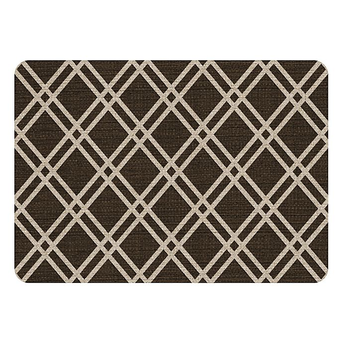 Alternate image 1 for Premium Comfort by Weather Guard™ 22-Inch x 31-Inch Colby Kitchen Mat in Chocolate