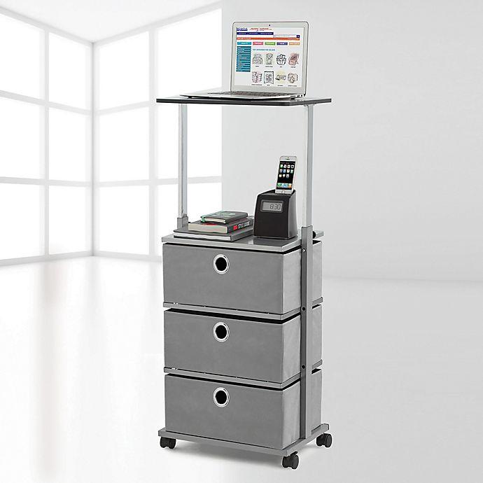 Alternate image 1 for Studio 3B™ 3-Drawer Adjustable-Top Storage Cart in Grey
