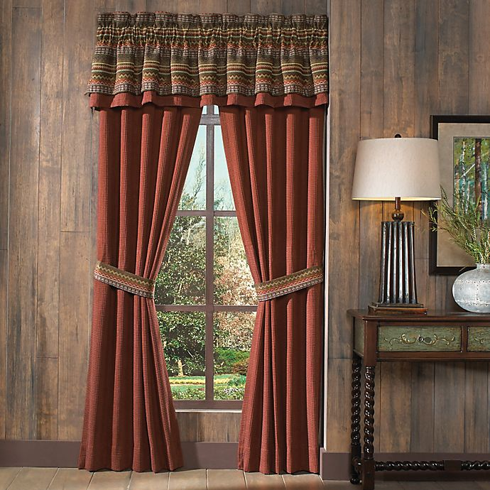 Alternate image 1 for Croscill® Horizons Pole Top 84-Inch Window Curtain Panel Pair in Red/Brown