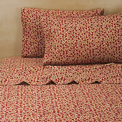 Brooklyn Flat Mizu Sheet Set in Red