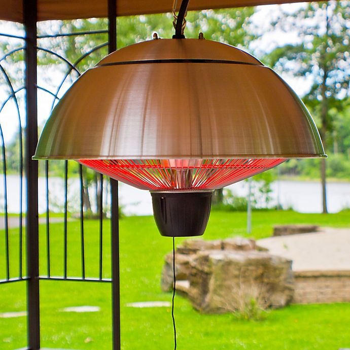Alternate image 1 for EnerG+™ HEA-21538 Hanging Electric Infrared Outdoor Heater in Silver