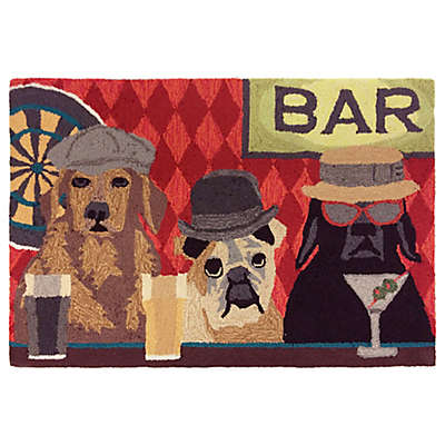 Trans Ocean Front Porch Bar Patrol Port Indoor/Outdoor Accent Rug