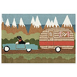 Trans-Ocean Front Porch Camping Dog Indoor/Outdoor Accent Rug