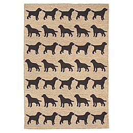 Trans-Ocean Front Porch Doggies Indoor/Outdoor Rug