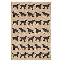 Trans-Ocean 5-Foot x 7-Foot 6-Inch Front Porch Doggies Indoor/Outdoor Rug