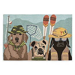 Trans-Ocean Front Porch Fishing Patrol Indoor/Outdoor Accent Rug