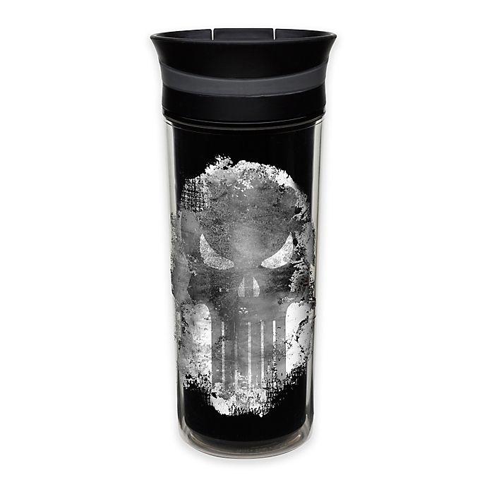 Alternate image 1 for Marvel Punisher 16 oz. Insulated Travel Mug