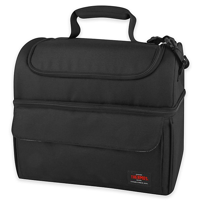 Alternate image 1 for Thermos® Insulated Lunch Lugger Cooler in Black