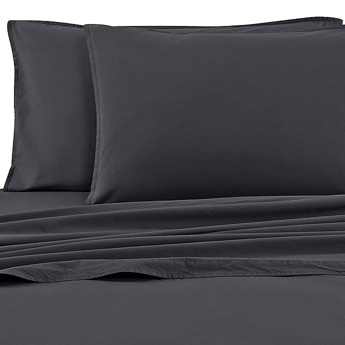 Alternate image 1 for Bellora® Gregory Standard Pillowcases in Charcoal (Set of 2)