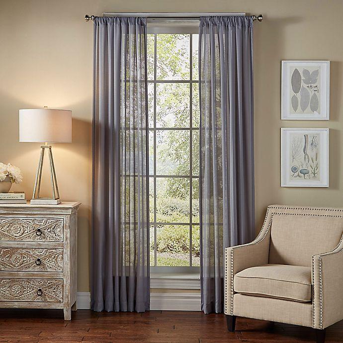 Alternate image 1 for SolarShield Borinda 63-Inch Rod Pocket UV Filtering Sheer Window Curtain Panel in Ash Blue
