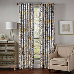 Eclipse Nina 63-Inch Rod Pocket/Back Tab Room-Darkening Window Curtain Panel in Yellow