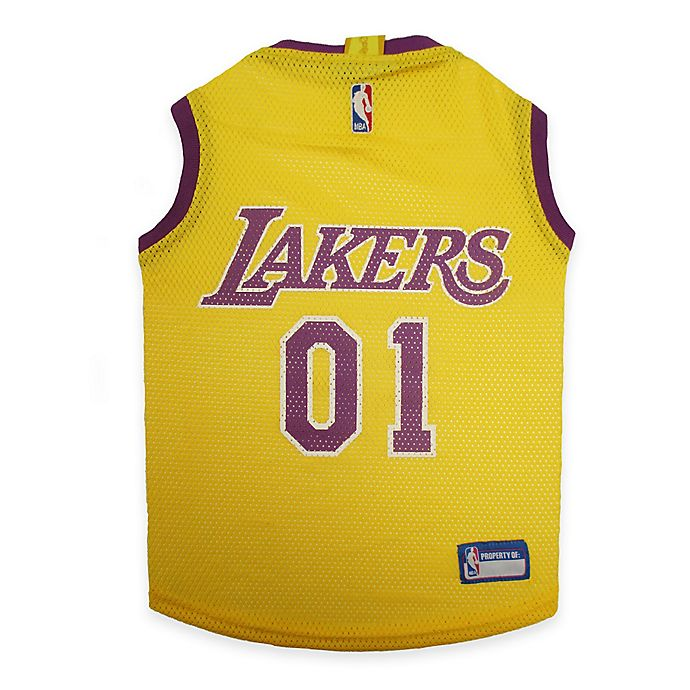 Alternate image 1 for NBA Los Angeles Lakers X-Small Pet Jersey