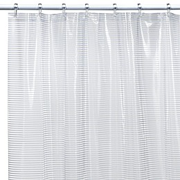 Linea White Vinyl Shower Curtain