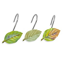 Bacova Waterfall Leaves Shower Curtain Hooks (Set of 12)