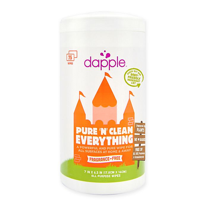 Alternate image 1 for dapple® Pure 'N' Clean 75-Count Everything Wipes in Fragrance-Free