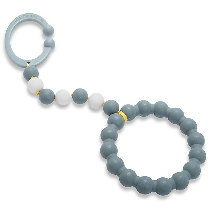 Alternate image 1 for chewbeads® Baby Gramercy Teether Stroller Toy in Grey
