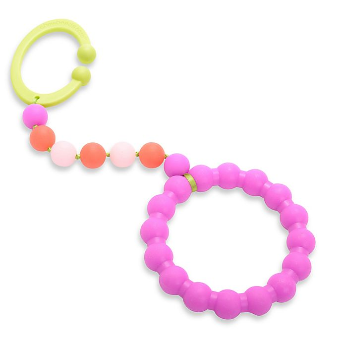 Alternate image 1 for chewbeads® Baby Gramercy Teether Stroller Toy in Pink