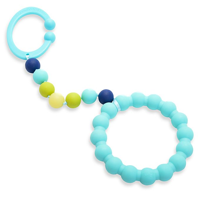 Alternate image 1 for chewbeads® Baby Gramercy Teether Stroller Toy in Turquoise
