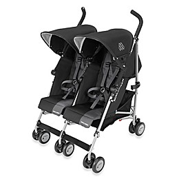 Maclaren® Twin Triumph Double Stroller in Black/Charcoal