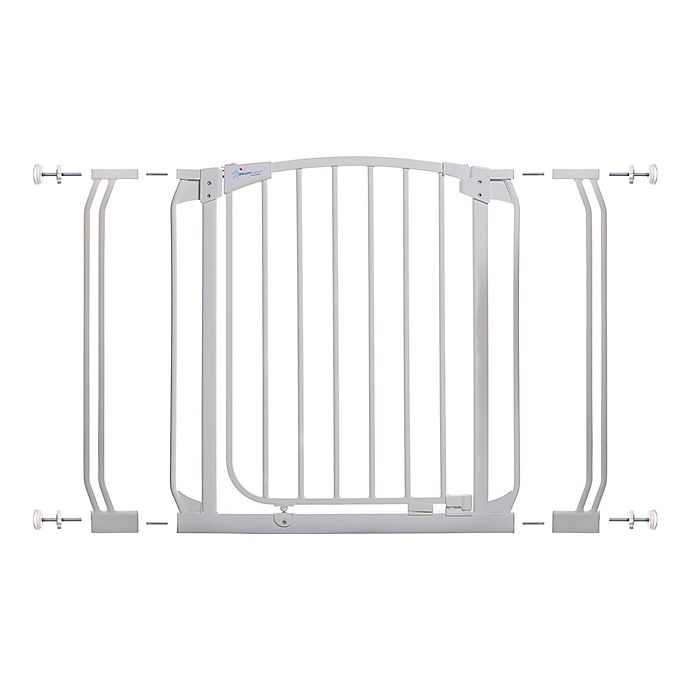 Alternate image 1 for Dreambaby® Chelsea Auto Close Stay Open Security Gate Value Pack in White