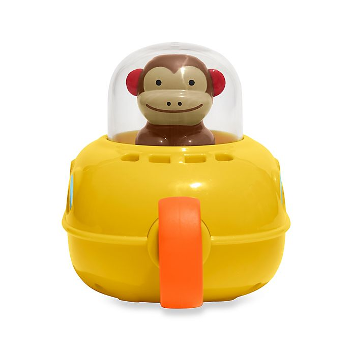 Alternate image 1 for SKIP*HOP® Zoo Monkey Pull & Go Submarine Bath Toy