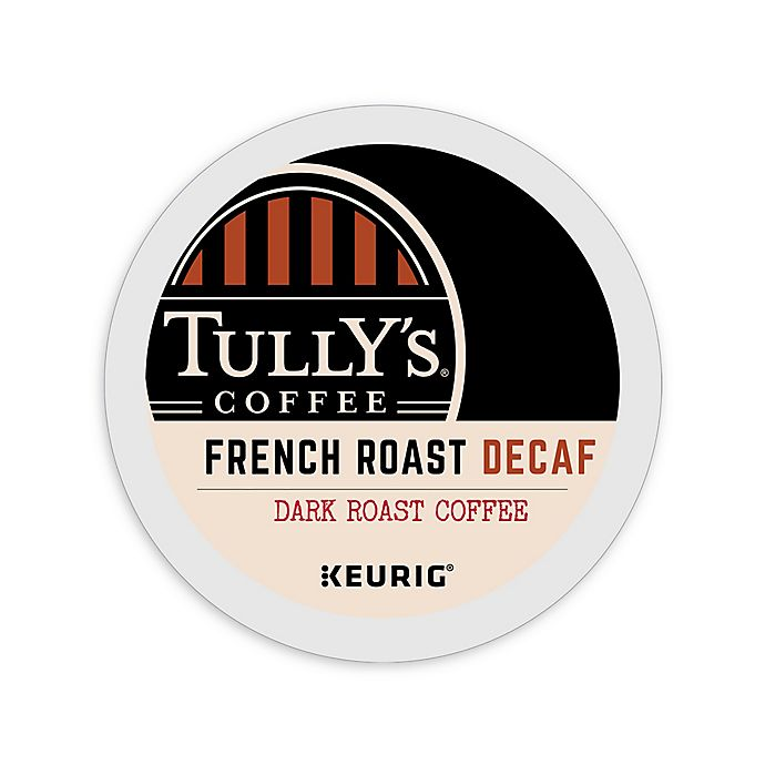 Alternate image 1 for Tully's Coffee® French Roast Decaf Dark Roast Coffee Keurig® K-Cup® Pods 18-Count
