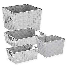 .ORG Woven Storage Tote in Light Grey
