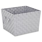 .ORG Large Woven Storage Tote in Light Grey