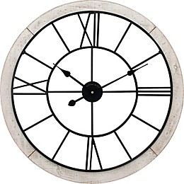FirsTime® Timeworn 27-Inch Cottage Wall Clock in White/Black