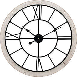 FirsTime® Timeworn Cottage Wall Clock in White/Black