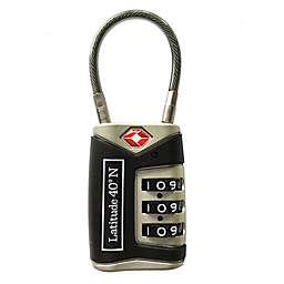 Latitude 40ºN® Cable Lock in Black