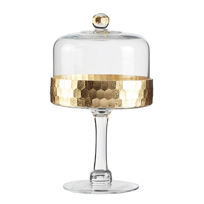 Alternate image 1 for Fitz and Floyd® Daphne Pedestal Cake Plate with Dome