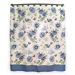 Lenoxreg Blue Floral Garden Shower Curtain