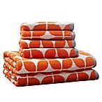 Intelligent Design Lita 6-Piece Cotton Jacquard Towel Set in Orange