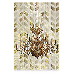 Marmont Hill Golden Gucci 16-Inch x 24-Inch Canvas Wall Art