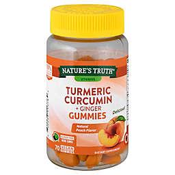 Nature's Truth® 70-Count Turmeric Curcumin Plus Ginger Natural Peach Flavor Gummies