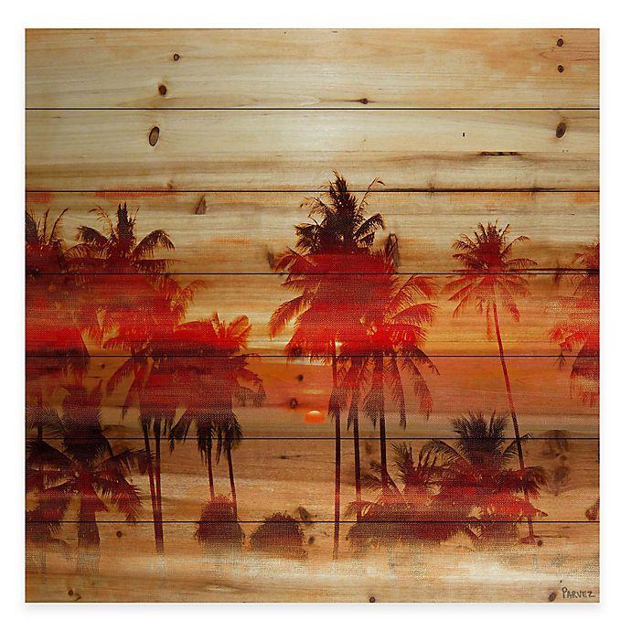 Parvez Taj Crimson Palms Wood Wall Art Bed Bath And Beyond Canada