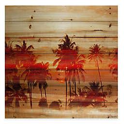 Parvez Taj Crimson Palms Wood Wall Art