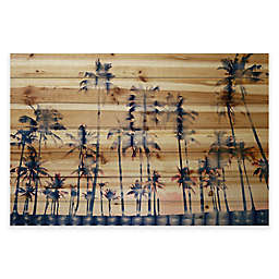 Parvez Taj Watercolor Palms Pine Wood Wall Art