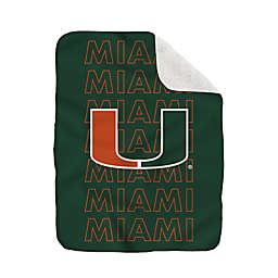 University of Miami 60-Inch x 70-Inch Echo Plush Logo Blanket