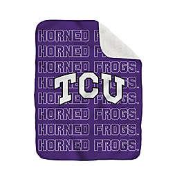 Texas Christian University 60-Inch x 70-Inch Echo Plush Logo Blanket