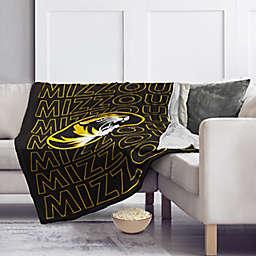 University of Missouri 60-Inch x 70-Inch Echo Plush Logo Blanket