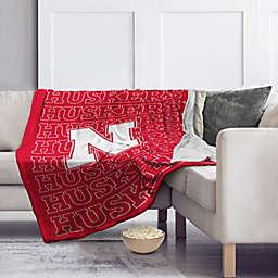 University of Nebraska 60-Inch x 70-Inch Echo Plush Logo Blanket